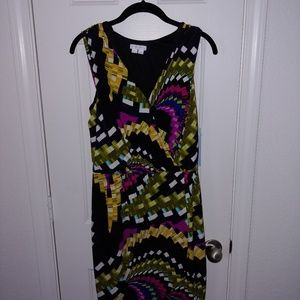 NWT $94 London Times Size 12 Sleeveless Dress